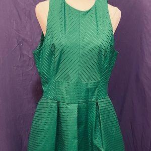 Green Cue knee length Aline dress
